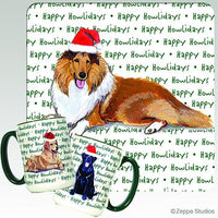 Collie Holiday Mug
