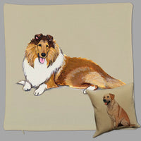 Collie Pillow Cover