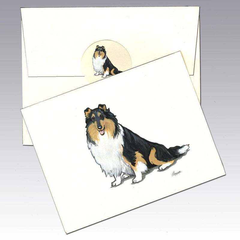Collie, Tri Color Note Cards