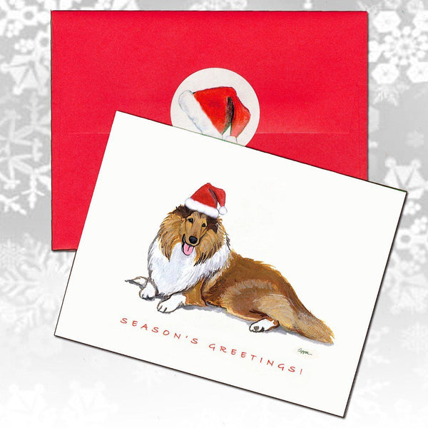 Collie Christmas Note Cards