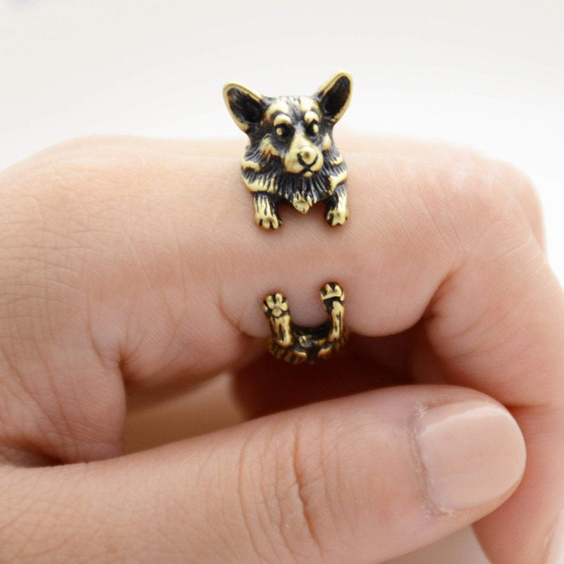 Pembroke Welsh Corgi Wrap Ring
