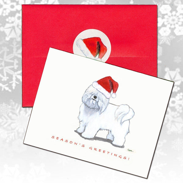 Coton du Tulear Christmas Note Cards