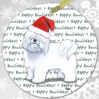 "Coton du Tulear ""Happy Howlidays"" Ornament"