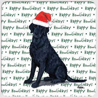 "Curly Coated Retriever ""Happy Howlidays"" Coaster"