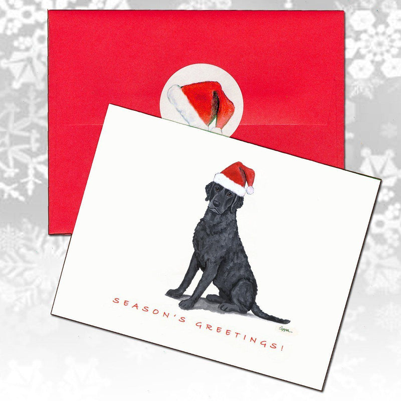 Curly Coated Retriever Christmas Note Cards