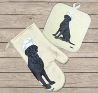 Curly Coated Retriever Oven Mitt and Pot Holder