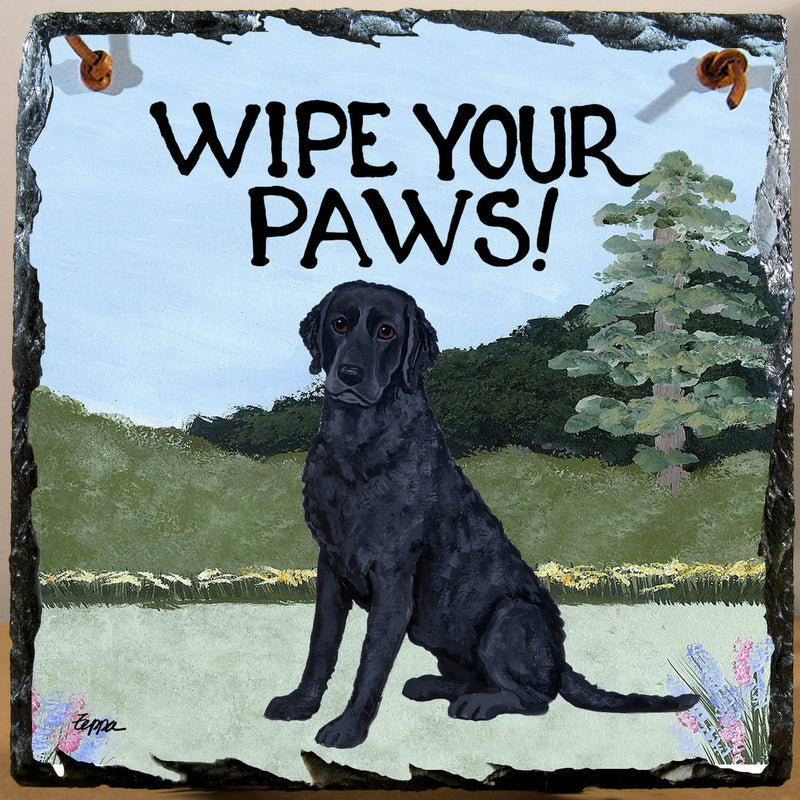 Curly Coated Retriever Slate Sign