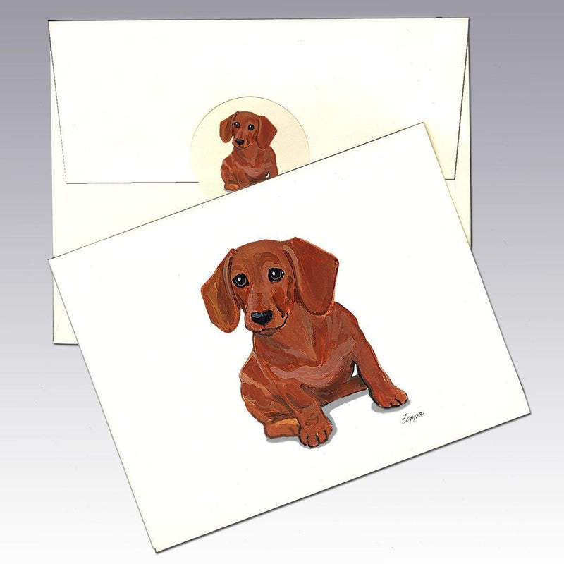 Dachshund, Red Note Cards