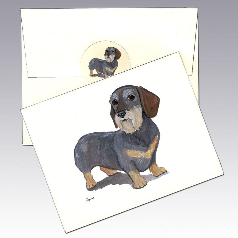 Dachshund, Wirehair Note Cards