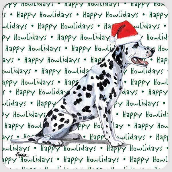 "Dalmatian ""Happy Howlidays"" Coaster"