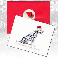 Dalmatian Christmas Note Cards