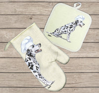 Dalmatian Oven Mitt and Pot Holder