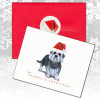 Dandie Dinmont Terrier Christmas Note Cards