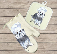 Dandie Dinmont Terrier Oven Mitt and Pot Holder