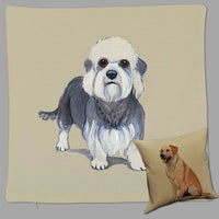 Dandie Dinmont Terrier Pillow Cover