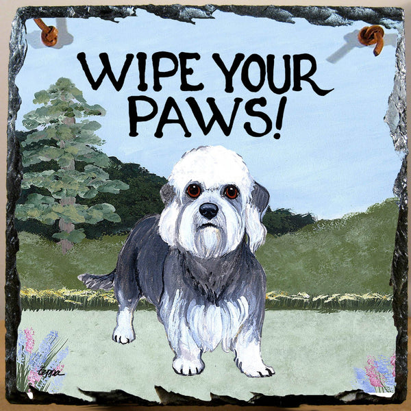 Dandie Dinmont Terrier Slate Sign