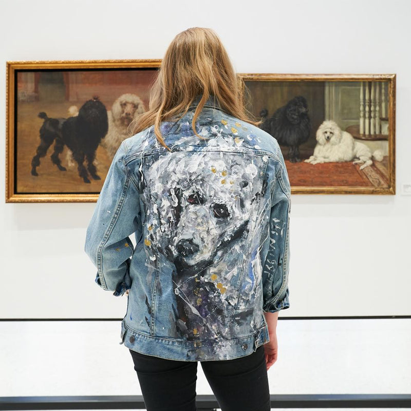 Customized Hand-Painted Dog Breed Denim Jackets