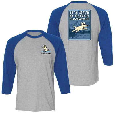 It's Dive-O-Clock Somewhere - Baseball T-Shirt
