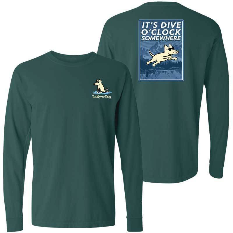 It's Dive-O-Clock Somewhere - Classic Long-Sleeve Shirt