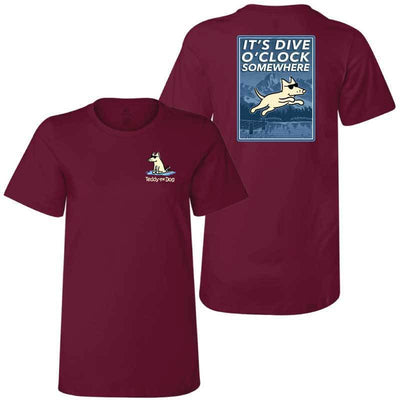 It's Dive-O-Clock Somewhere - Ladies T-Shirt Crew Neck
