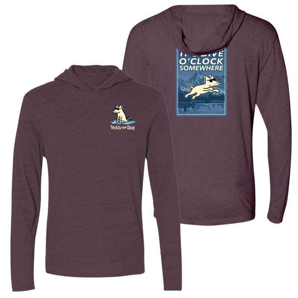 It's Dive-O-Clock Somewhere - Long Sleeve T-Shirt Hoodie
