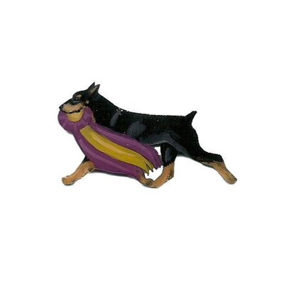 Hand-Painted Doberman Pinscher Pin