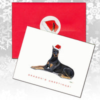 Doberman Pinscher Christmas Note Cards