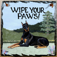 Doberman Pinscher Slate Sign