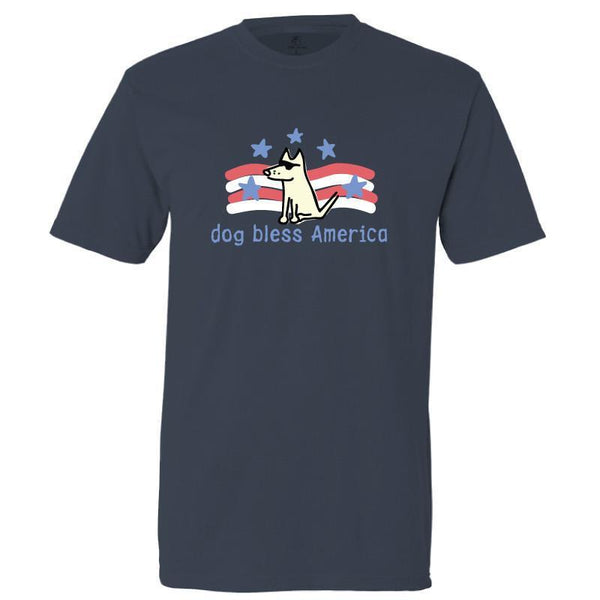 dog bless america garment dyed classic t-shirt