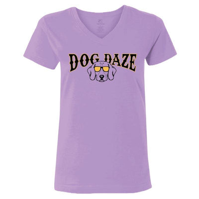 Dog Daze - Beagle - Ladies T-Shirt V-Neck