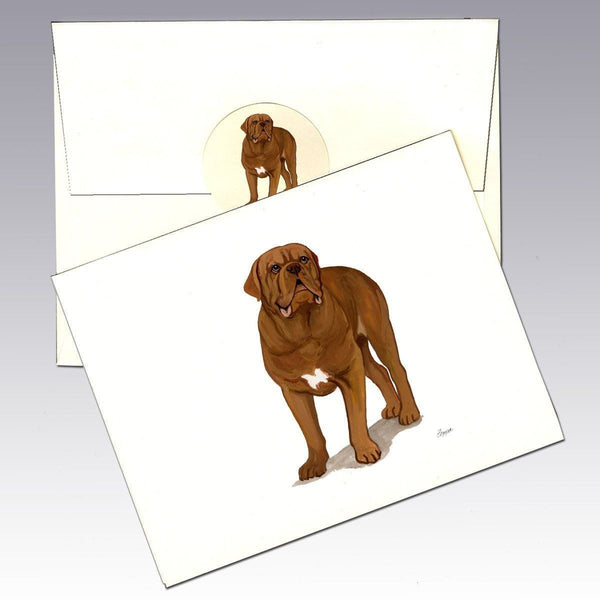 Dogue Du Bordeaux Note Cards