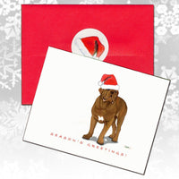 Dogue de Bordeaux Christmas Note Cards
