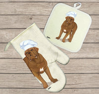 Dogue de Bordeaux Oven Mitt and Pot Holder