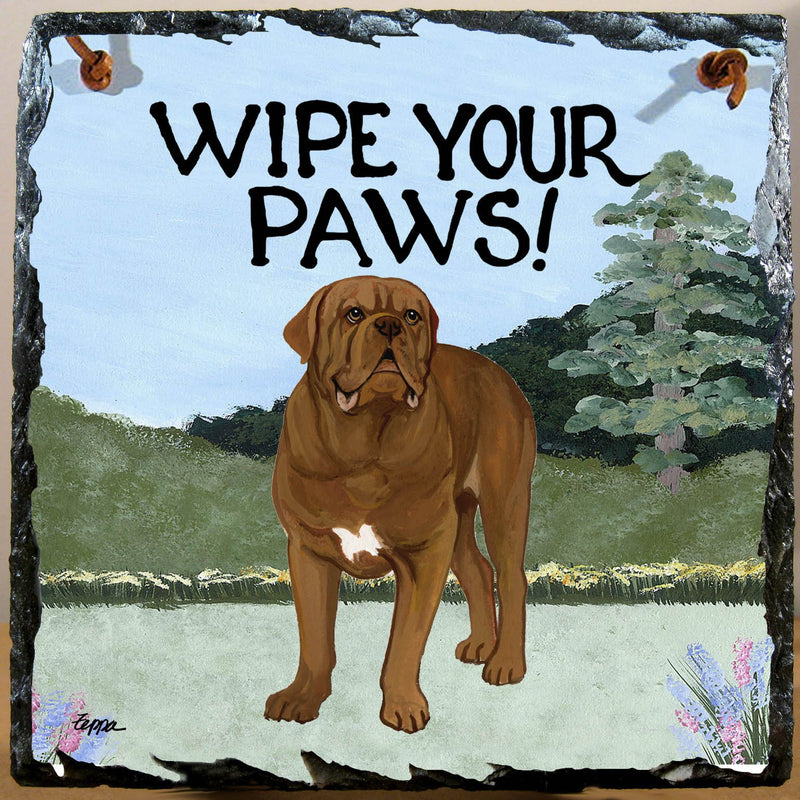 Dogue de Bordeaux Slate Sign