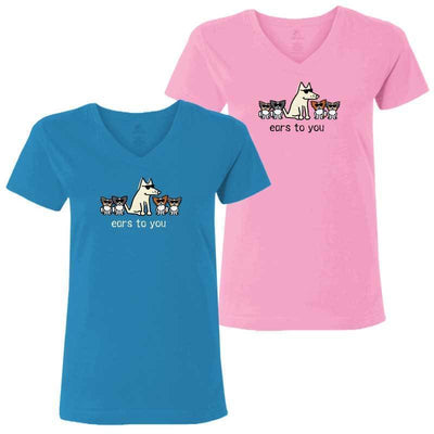 Ears To You - Ladies T-Shirt V-Neck