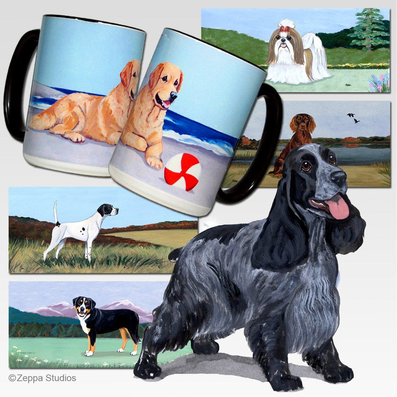 English Cocker Spaniel Scenic Mug