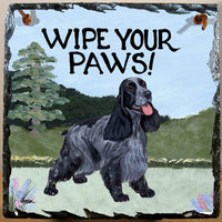 English Cocker Spaniel Slate Sign