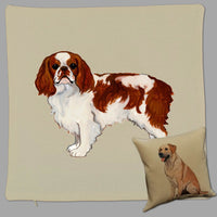 English Toy Spaniel Pillow Cover