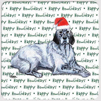 "English Setter ""Happy Howlidays"" Coaster"