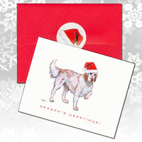 English Setter, Red Belton Christmas Note Cards