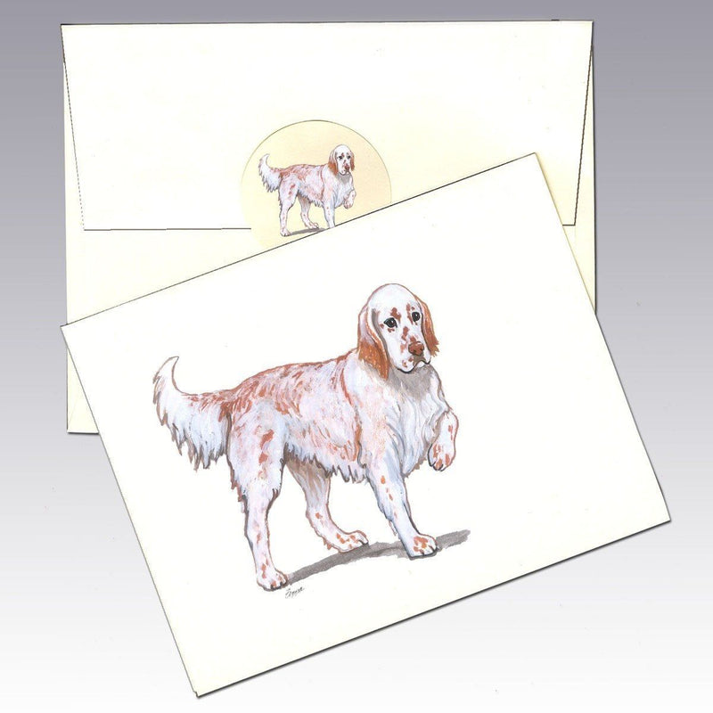 English Setter, Red Belton Note Cards