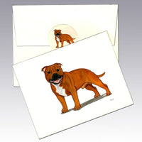 Staffordshire Terrier Note Cards