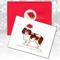 English Toy Spaniel, Blenheim Christmas Note Cards