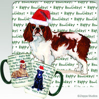 English Toy Spaniel, Blenheim Holiday Mug