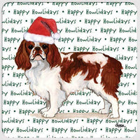 "English Toy Spaniel, Blenheim ""Happy Howlidays"" Coaster"