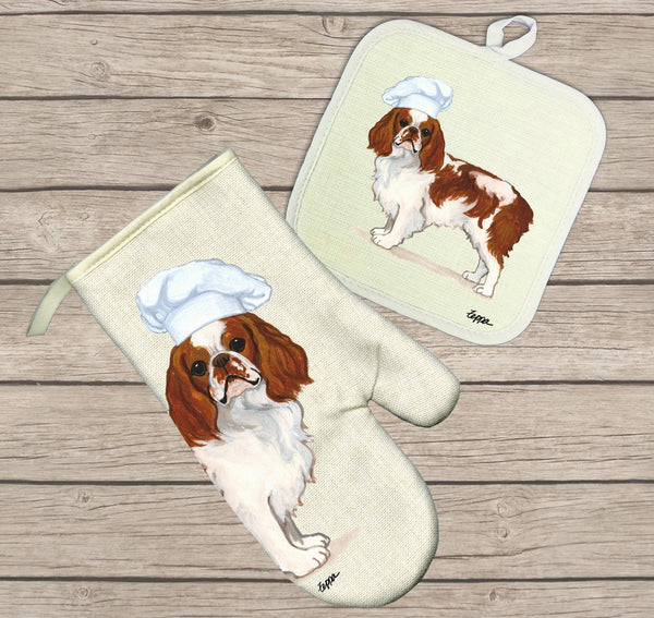 English Toy Spaniel Oven Mitt and Pot Holder