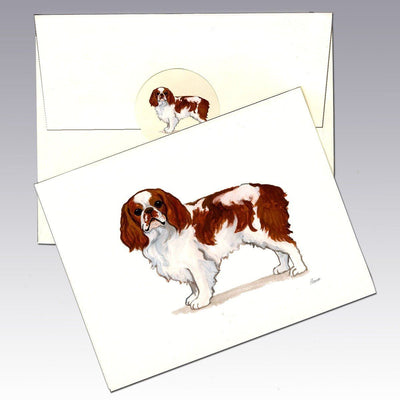 English Toy Spaniel, Blenheim Note Cards