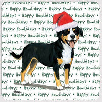 "Entelbucher Mountain Dog ""Happy Howlidays"" Coaster"