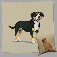 Entelbucher Mountain Dog Pillow Cover