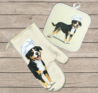 Entelbucher Mountain Dog Oven Mitt and Pot Holder